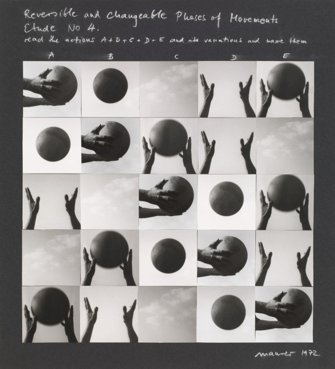 Dóra Maurer. Reversible and Changeable Phases of Movement, Study No. 4. 1972