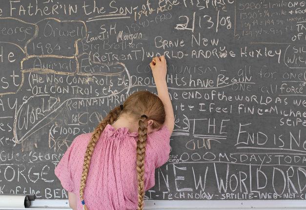 Lucas Foglia, Homeschooling Chalkboard, Tennessee, 2008.