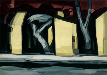 Oscar Bluemner, A Situation in Yellow, 1933. Oil on canvas, 36 × 50 1/2 in.