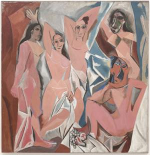 Les Demoiselles d'Avignon 1907 Pablo Piscasso