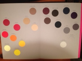 Swatches of color