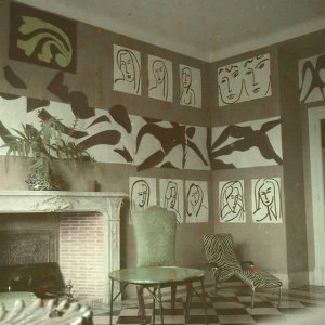 The Swimming Pool in Matisse's dining room at the Hôtel Régina, Nice, 1952. Photo: Lydia Delectorskaya. © 2014 Succession H. Matisse Source: MOMA website