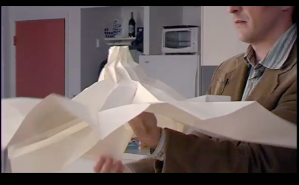 Paper sculpture demo from the film