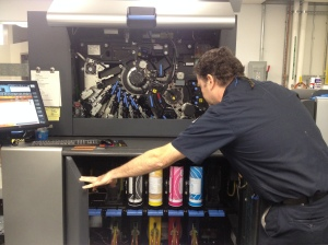 Inside the digital printer