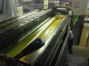 Color being used in the offset printer