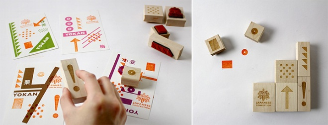Rubber stamps for children to play