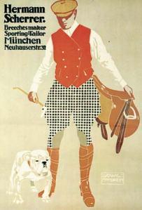 Ludwig Hohlwein, Hermann Scherrer. Breechesmaker Sporting-Tailor, 1911