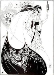 Aubrey Beardsley, The Peacock Skirt, 1893