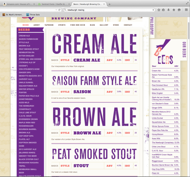 Newburgh Brewing Website