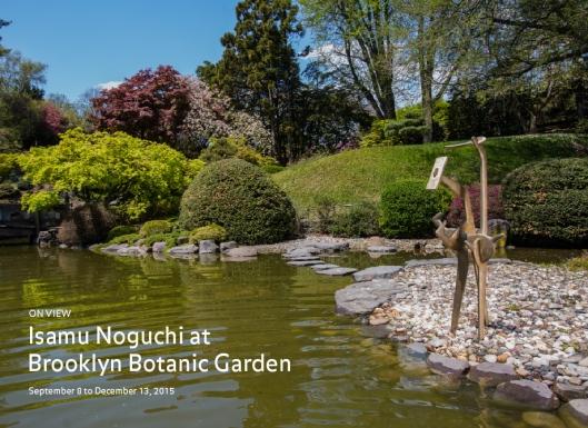 Isanu Noguchi at The Brooklyn Botanical Garden