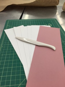 Pieces of paper after cutting