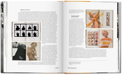 A spread from the book of photographer Bert Stern's images of Marilyn Monroe.