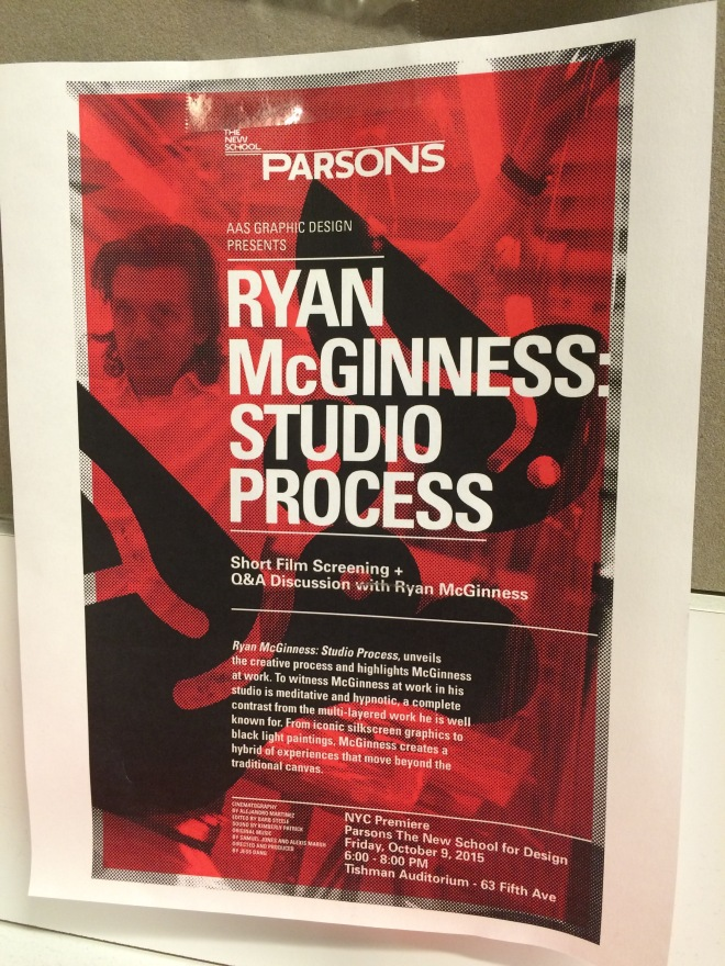 Ryan McGinness Event Poster