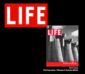 Margaret Bourke - White's photograph appeared on the first issue of LIFE published in November 23, 1936. Hear more about Bourke- White and the cover story.